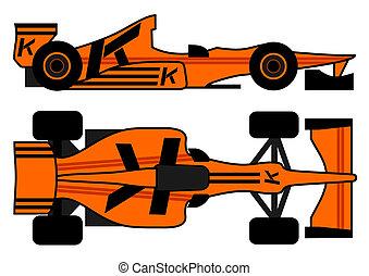 Leader racing car - Design of leader racing car