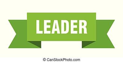 leader ribbon. leader isolated sign. leader banner