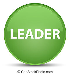 Leader special soft green round button
