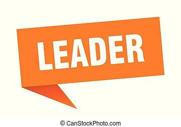 leader speech bubble. leader sign. leader banner