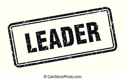leader stamp. leader square grunge sign. leader
