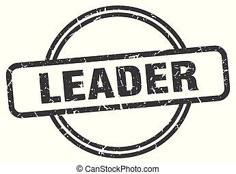 leader vintage stamp. leader sign