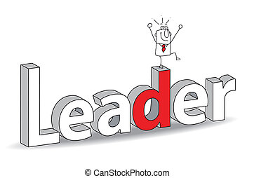 "leader - Word ""Leader"" in a 3D style with Joe the..."