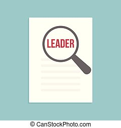 Leader Word Magnifying Glass