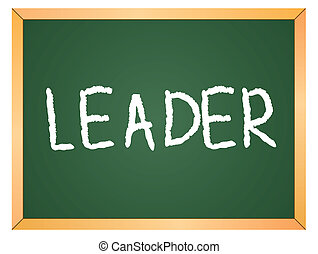 leader word on chalkboard
