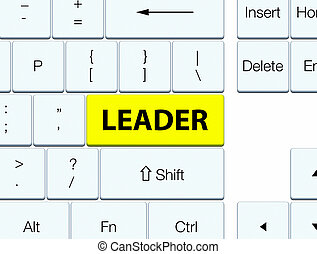 Leader yellow keyboard button