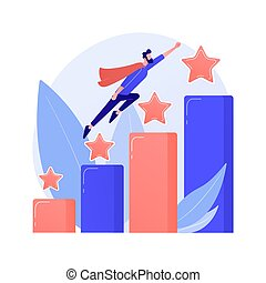 Leadership and job promotion vector concept metaphor.