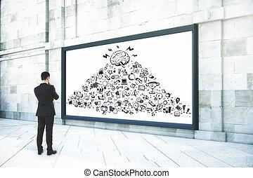 Leadership and presentation concept