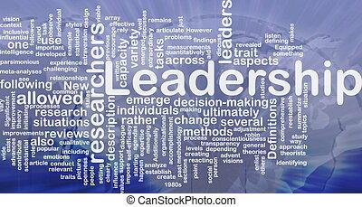 Leadership background concept