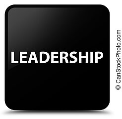 Leadership black square button