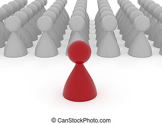 Leadership concept, 3d rendering