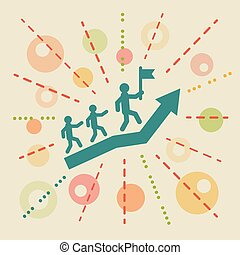 Leadership. Concept business illustration