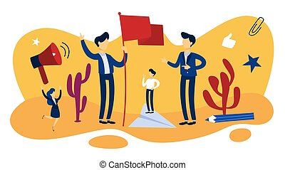Leadership concept. Idea of teamwork and guidance