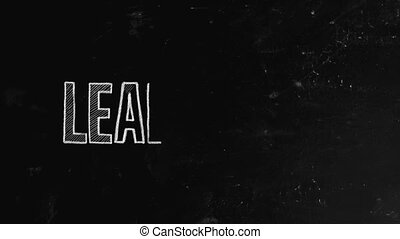 """Leadership concept written on blackboard. Leadership is both a research area and a practical skill encompassing the ability of an individual, group or organization to """"lead"""", influence or guide other individuals, teams, or entire organizations"""