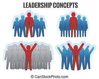 Leadership concepts. Vector illustration.
