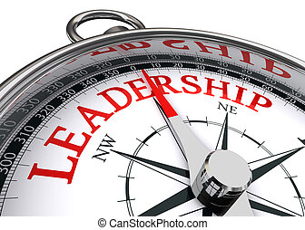 leadership conceptual compass - leadership red word...