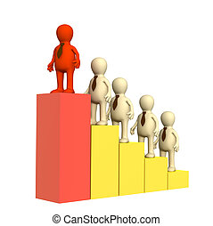 Leadership - Conceptual image - a position of the leader