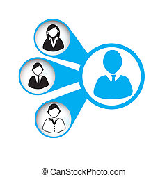 leadership design over white background vector illustration