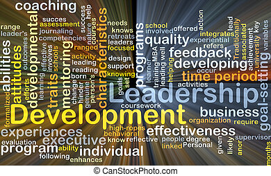 Leadership development background concept glowing -...