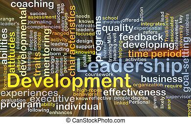 Leadership development background concept glowing -...