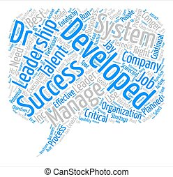 Leadership Development Secure The Future Word Cloud Concept Text Background