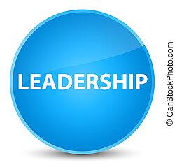 Leadership elegant cyan blue round button