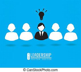 leadership design over blue background vector illustration