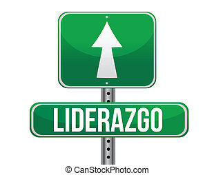 leadership green sign in spanish