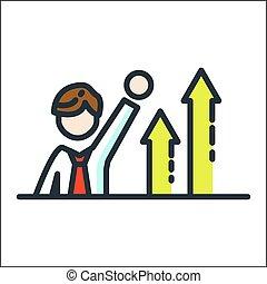 leadership growth icon color