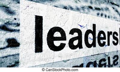 Leadership grunge concept