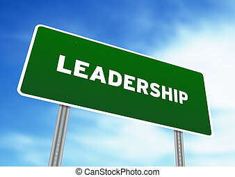 Leadership Highway Sign - High resolution graphic of a...