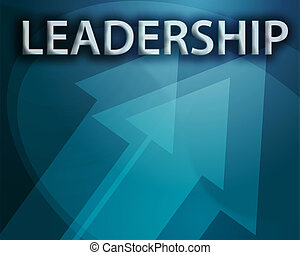 Leadership illustration, abstract management success concept...