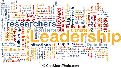 Leadership is bone background concept - Background concept...