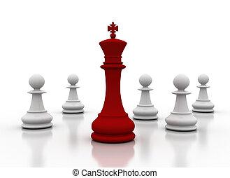 Leadership - Leader - leadership illustration on white...