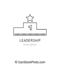 Leadership line icon