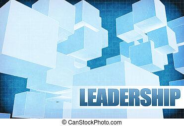 Leadership on Futuristic Abstract