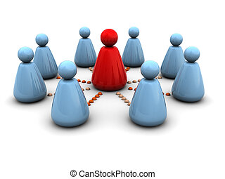 leadership - abstract 3d illustration of business team...