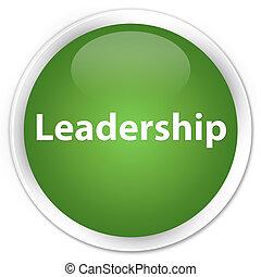 Leadership premium soft green round button