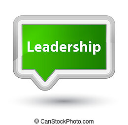 Leadership prime green banner button