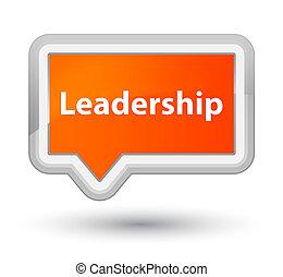 Leadership prime orange banner button