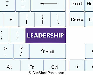 Leadership purple keyboard button