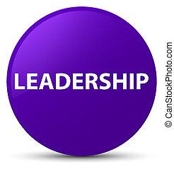 Leadership purple round button