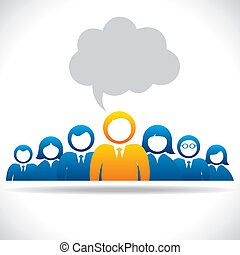 leadership quality or team stock vector