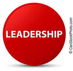 Leadership red round button