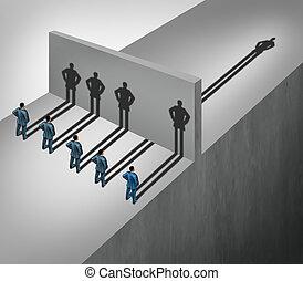 Leadership Skill - Leadership skill business concept as a...