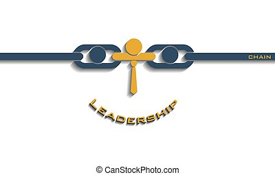 Leadership smiley chain concept, vector