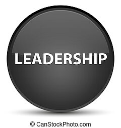 Leadership special black round button
