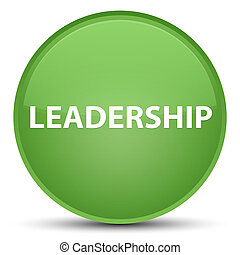 Leadership special soft green round button