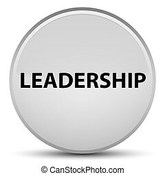Leadership special white round button