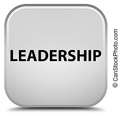 Leadership special white square button
